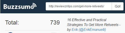 total social shares for How to Get More Retweets posts on reviewzntips_com