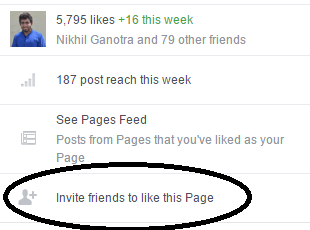 tell a friend feature to gather new Facebook likes