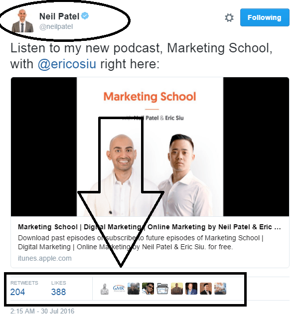 neil-patel-pinned-tweet-of-november-2016